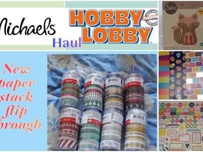 Michael's New Paper Stack Flip Through & Hobby Lobby Collective Haul