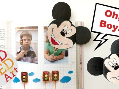 Mickey Mouse Bookmark Corner - East Paper Crafts - Collab with Sarah & Squirrel
