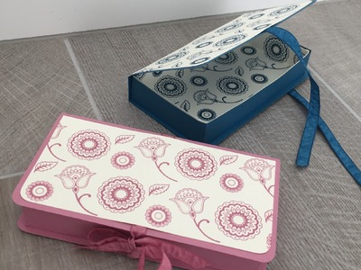 Paisleys and Posies Lined Gift Box with Hand Stamped Paper