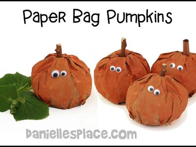 Paper Bag Pumpkins  Fall or Halloween Decoration