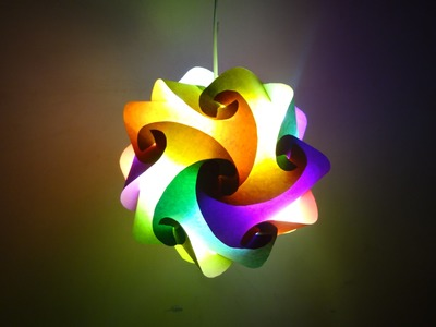 Paper Crafts (Diwali Decoration Ideas):Beautiful Multicoloured Lantern