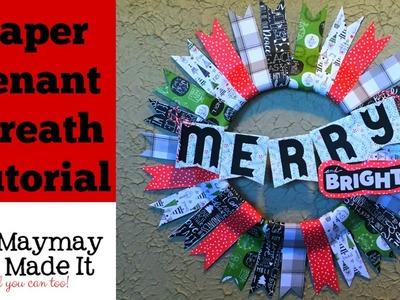 Paper Penant Christmas Wreath