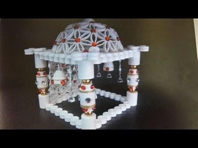 Quilling how to make quilled pompoms amna al fard how for How to make paper temple