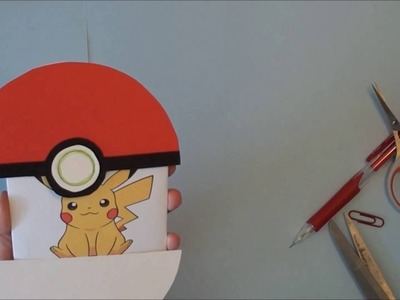 Pokemon Ball card and inside is Pichu DIY