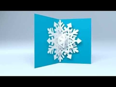 Pop Up Snowflake Holiday Greeting Card by Red Paper Plane