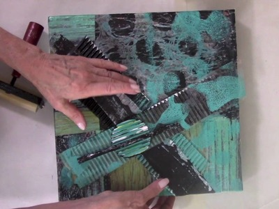 Printed Wax Paper on Canvas Part 3