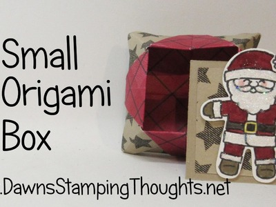 Small Origami Box  using Warmth & Cheer Designer paper from Stampin'Up!