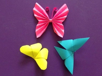 Top 3 paper butterflies super easy to make | | Easy origami for beginners making | DIY-Paper Crafts