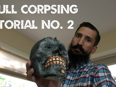 Www.monstertutorials.com - Dollar Store Skull Corpsing with Toilet Paper and Glue Tutorial