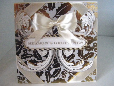 215. Cardmaking Project: Anna Griffin Christmas Holly Metallic Card