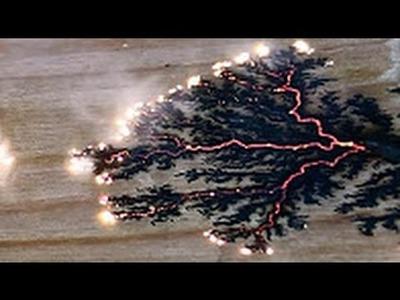 A DIY Wood burning With Home Made Lightning.  Lichtenberg Figures!