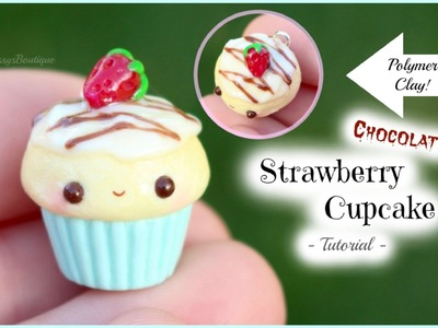 Chocolate Strawberry Cupcake Tutorial! | Kawaii Polymer Clay