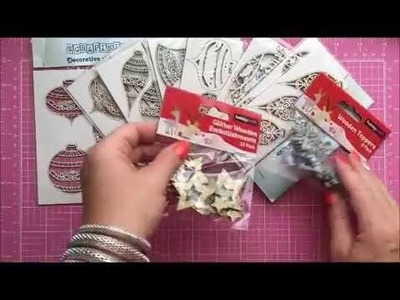 Christmas Embellishments Haul Scrapiniec Chipboards & Giveaway