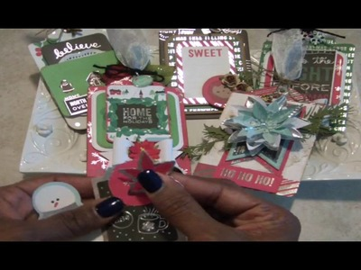 Christmas Tags using Project Life Cards