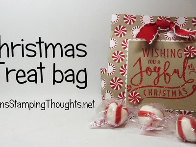 Christmas Treat Bag  using Candy Cane Lane designer paper from Stampin' Up !