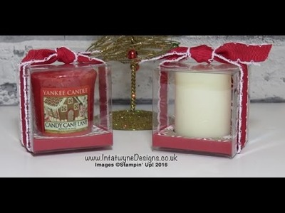 Crafty Christmas Countdown #3 - Candy Cane Lane Yankee Candle Treat box