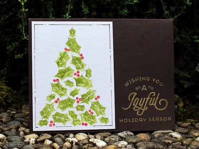 Creating the Perfect Watercolor Christmas Tree - Stamp of Approval