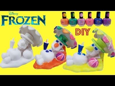Disney Frozen Design a Vinyl Olaf *D.I.Y* color change with Nailpolish