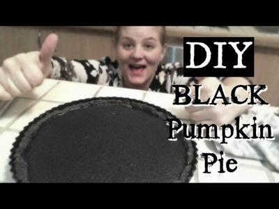 DIY BLACK PUMPKIN PIE!
