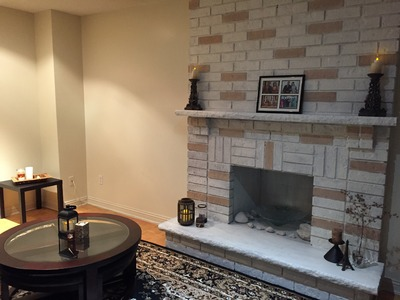 DIY Cheap & Easy Family Room & Fireplace Makeover (Whitewash)