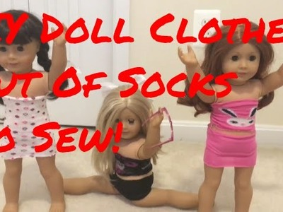 DIY Doll Clothes Out Of Socks|No Sew!