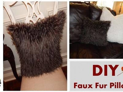 DIY - Faux Fur Pillows