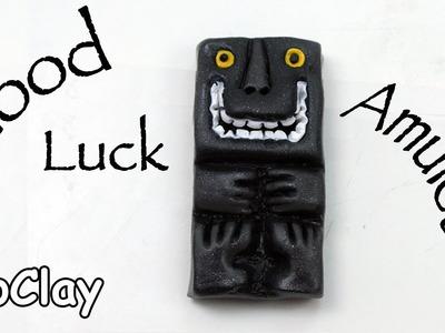 DIY Good luck amulet -  polymer clay totem