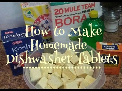 DIY Homemade Dishwasher Tablets *Kiwannas Kitchen*