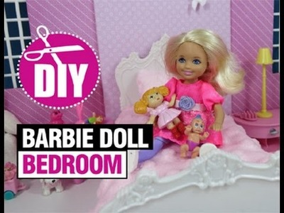 DIY How to Make Barbie Doll Bedroom for Chelsea #barbiedolls #dollcraft