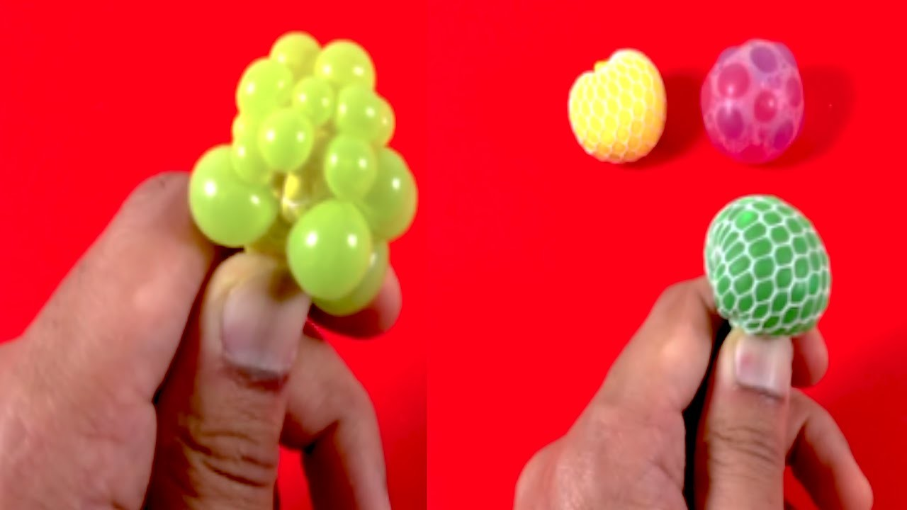 DIY Mini Stress Balls! Miniature Orbeez & Mesh Slime Stress Ball!