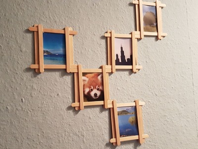 DIY: Popsicle Stick Multi Photo Frame