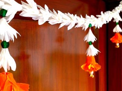 DIY Realistic Paper Flowers Mogra & Marigold Bandhanwar. Toran