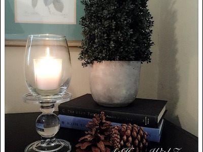 DIY Votive Candle Holder.Hurricane