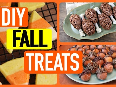 EASY DIY FALL TREATS YOU NEED TO TRY!