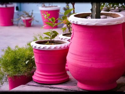 Flowerpots and Hanging pots.Plants Decor IDEAS (DIY)