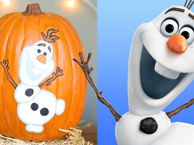 Frozen Pumpkin Painting | Disney DIY