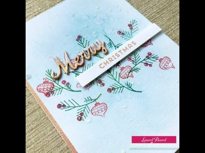 Handmade Christmas Card: Candy Cane Lane Collection