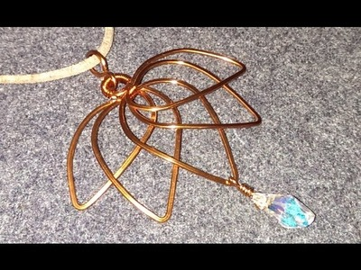 Handmade jewelry - Wire Jewelry Lessons - DIY - How to make lotus pendant