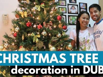 How To Decorate Christmas Tree || Gold.Red Theme || Buhay ng Pinoy Sa Dubai