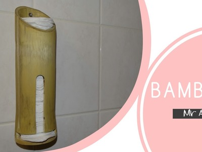 How to make a Bamboo cotton pads holder - DIY