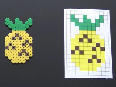 How To Make A Cute Perler Bead Pineapple