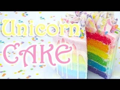 How-To Make A Rainbow Unicorn drip CAKE - Absolute Nails Collab!