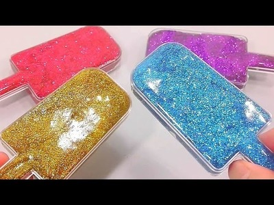 How To Make Glitter Icecream Slime Freeze Colors Rainbow Jelly Slime Bath Time Clay | Finger Family