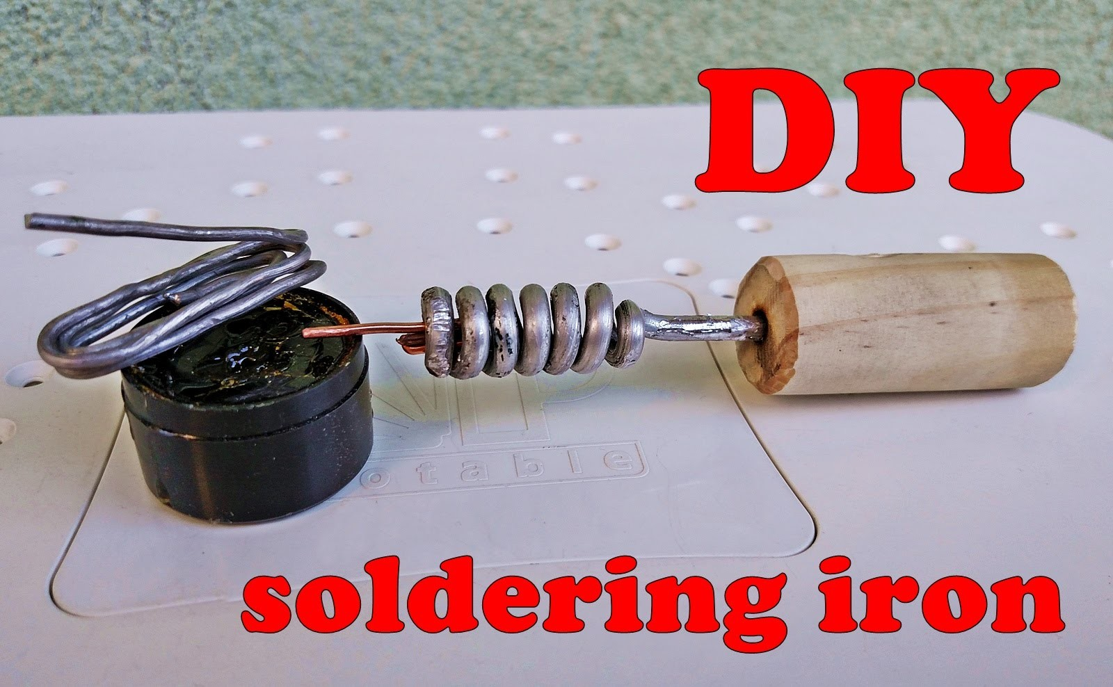 how to make soldering iron diy non electric soldering iron my crafts and diy projects. Black Bedroom Furniture Sets. Home Design Ideas