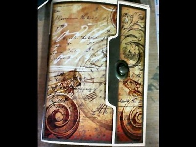 Junk Journal with cocoa baked paper