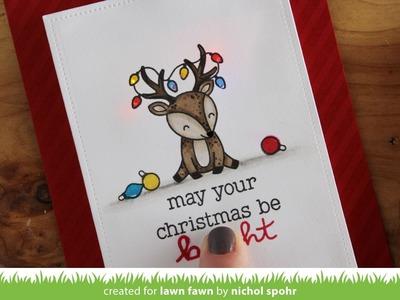Lawn Fawn Cheery Christmas | Light Up Christmas Card