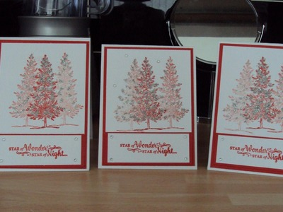 Lovely as a tree christmas card stampinup