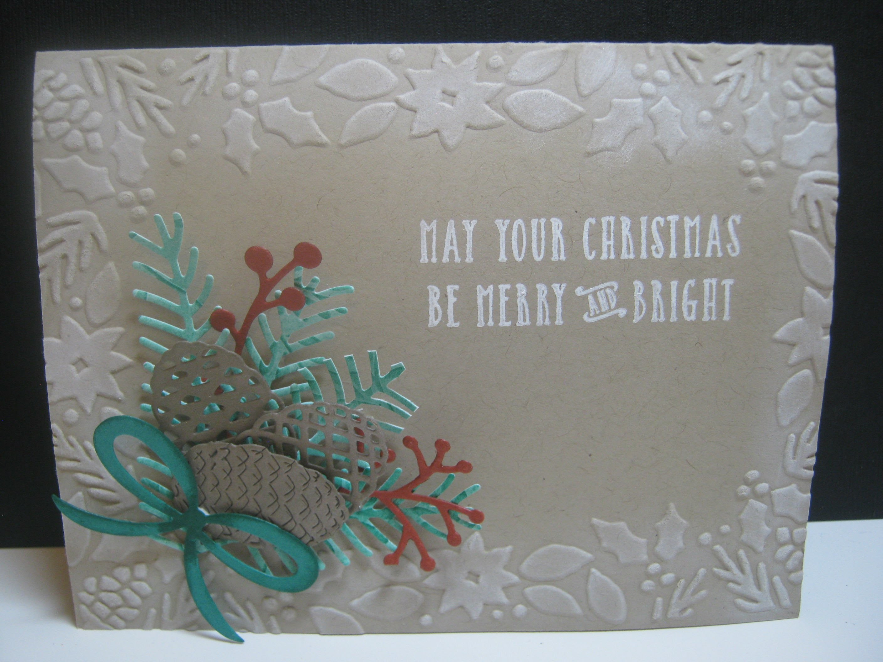 Pretty Pines Die Cut Christmas Card