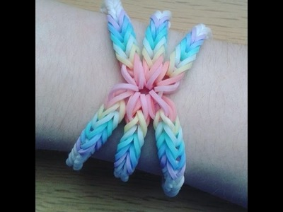 RAINBOW LOOM ~ FLAMING FISHTAILS BY CLAIRE'S WEARS FINNISH TUTORIAL | HOOK ONLY
