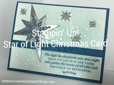"Stampin' Up! Emboss Resist ""Star of Light"" Christmas Card"